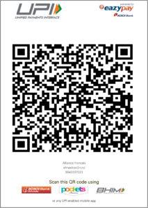 Alliance française of Madras_scan QR code for fee transaction